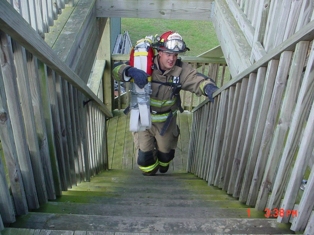 Stair Climb with High Rise Pack